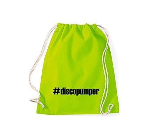 Shirtstown Zaino #discopumper hashtag - rosso, 37 cm x 46 cm lime