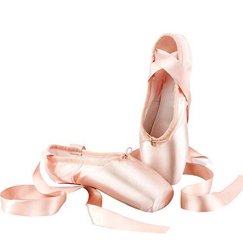 DULEE Kinder und Erwachsenen Harte Sohle Ballettschuhe Ballettschläppchen Ballet Spitzenschuhe Gymnastikschuhe Ballet Trainings Schläppchen,Fleck 31