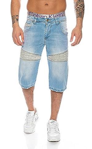 Rock Creek Herren Jeans Bermuda Hose Shorts Blau LL-389