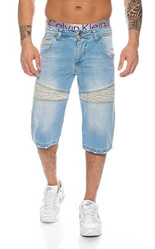 Rock Creek Herren Jeans Bermuda Hose Shorts Blau LL-389 W29