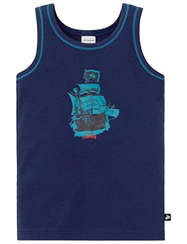 Schiesser Jungen Unterhemd Hemd 0/0, Blau (Blau 800), 116