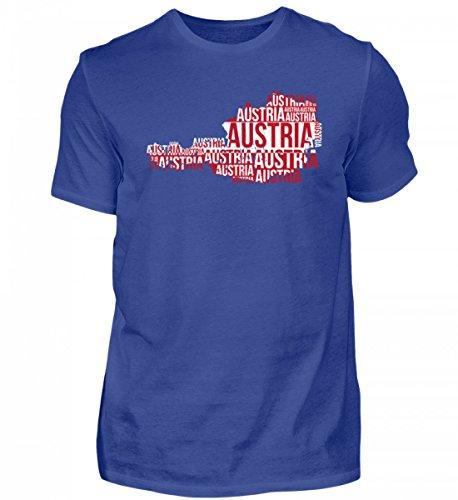 Hochwertiges Herren Shirt - Austria Österreich Ländershirt Landkarte Fussball Soccer Flagge Trikot Geschenk