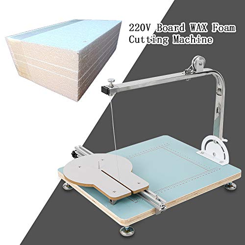 YIYIBY Schaumschneidemaschine Tragbares Edelstahl Styroporschaum Heißdraht Schneidegerät Styroporschneider 72W