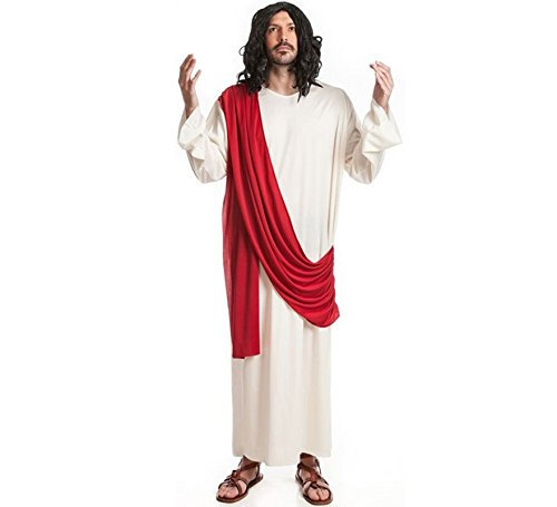 (El Rey del Carnaval Kostüm von Jesus christus - Hombre, L)