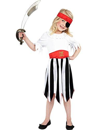 Halloweenia - Abenteuer Piratin Kostüm für Kinder, 122-134, 7-9 Jahre, - 7 Johnny Depp Kostüm