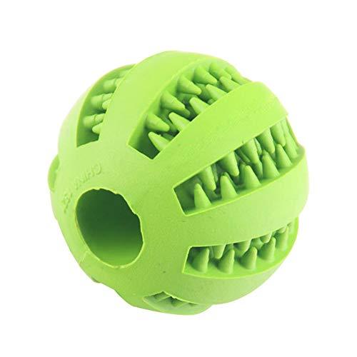 LIMUZHI Pet Molar Spielzeug Wassermelone Kugel Silikon-Spielzeug-Hund Molar Kugel Biting saubere Zähne Undichte Nahrungsmittelkugel Kauen Katzenspielzeug (Rot, Gelb, Orange, Blau, Grün, Cyan)-Green