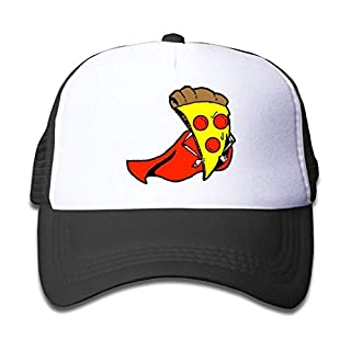 NGDUTZ Funny fashion Hat Baseball Cap Aiw Wfdnn Super Pizza With Red Cloak Mesh Baseball Caps Kid's Trucker Hat Boy Girl