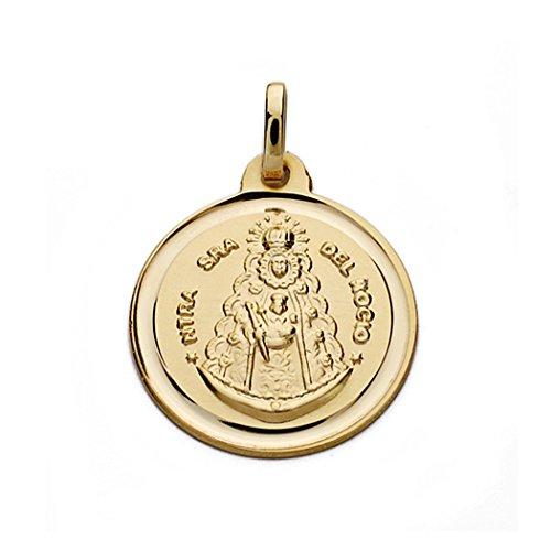 Medalla oro 9k Virgen del Rocío 18mm. [AB0548]