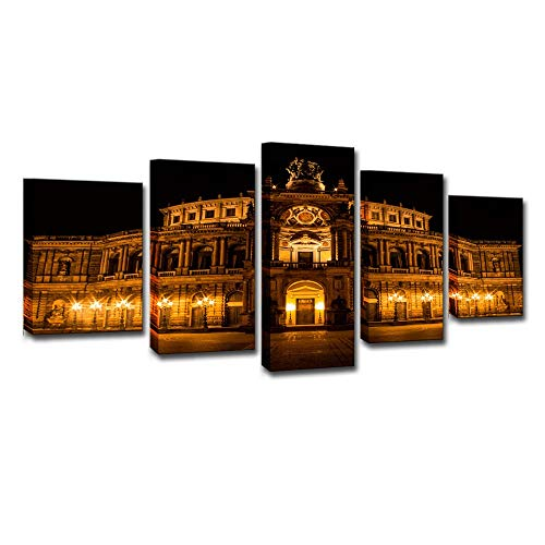 xiaohuhu Kreative Leinwand HD Malerei Set 5, Dresden Saponin Opera House Home Living Art Deco Wandmalerei