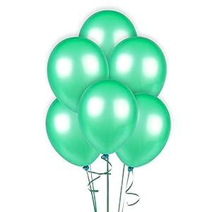 Gifts 4 All Occasions Limited SHATCHI-61 - Globos de decoración para fiestas (100 unidades, 30,5 cm), diseño de globos de color verde