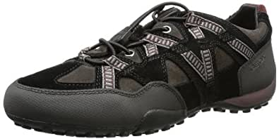 Geox U SNAKE T U3407T02250C6524, Herren Sneaker, Schwarz (MUD/BLACK C6524), EU 43