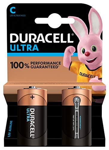 Duracell Ultra C Baby Alkaline Batterien LR14, 2er Pack