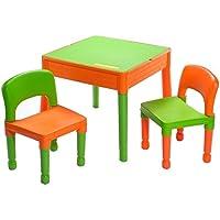 Möbel Kinder 1Tisch + 2Stühle Liberty Building Tega House Idee Geschenk Lego (Orange) preisvergleich bei kinderzimmerdekopreise.eu