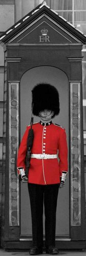 London - Buckingham Palace Guard Colour - Slim Poster Städte London Buckingham Palace - 30,5x91,5 cm + 1 Packung tesa Powerstrips® - Inhalt 20 Stück
