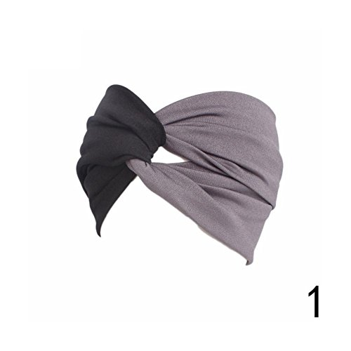 Blue Vessel Damen Kreuz Stirnbänder Frauen Twist Stretch Haarbänder Doppel Farbe Kreuz Stirnband Haar Accessoeies Hairbands
