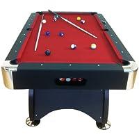 Billardtisch Pool Billard Tisch rot mit Zubehör robust 145 kg 7 ft