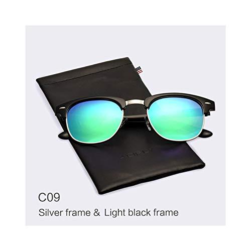 Sport-Sonnenbrillen, Vintage Sonnenbrillen, Classic Half Metal Polarisiert Sunglasses Men Women Brand Designer Glasses Spiegel Sun Glasses Fashion Gafas Oculos De Sol C09