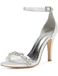 96e7e03fd6 AIMISHOES Mujeres Wedd Ing Sandals Thin High Heels Mujer Zapatos De Boda  Zapatos De Fiesta Sandalias