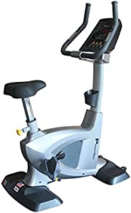 PowerMax Fitness BU-3000C Commercial Upright Bike, grey
