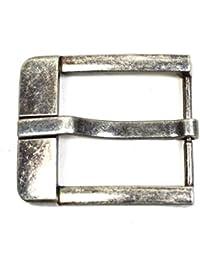 Gürtelschnalle Vintage antik Buckle 40 mm Metall Dornschließe für Gürtel mit 4 cm Breite M 5