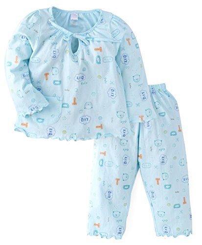 NammaBaby Girls Night Suit (5-6 years, BLUE)