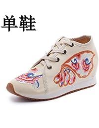 Bordado Zapatos/Alpargatas/Merceditas/Zapatos Bordados de Mujer, Zapatos de Lona y