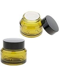 perfeclan 2 Pedazos Tarros de Vidrio Envase de Maquillaje Latas de Lociones Botella de Viaje Vial