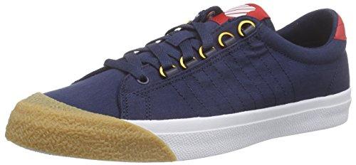 K-Swiss Irvine T, Herren Sneakers, Blau (Dress Blues/Ribbon Red/Dark Gum), 44.5 EU (10 Herren UK) (Schuhe Cap-toe Casual)