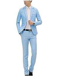 Letuwj Homme Costume Confortable Blazer + Pantalon de Costume 688f9962169