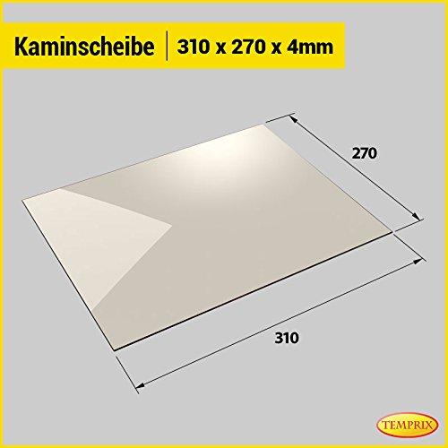 Kaminglas und Ofenglas 310 x 270 x 4 mm | Temperaturbeständig bis 800° C | » Wunschmaße auf Anfrage « | Markenqualität in Erstausrüsterqualität