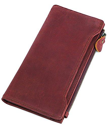 Insun , Portafogli  uomo, Marrone (Wine Crazy Horse Leather), Taglia (Vintage Wine Journal)
