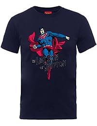 Superman Son of Krpyton Official DC Comics Justice League Blue Kids Boys T-Shirt