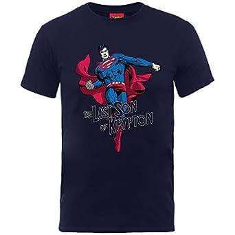 DC Comics Kids Superman Son of Krypton, T-Shirt Bambino, Blue, 5-6 Anni