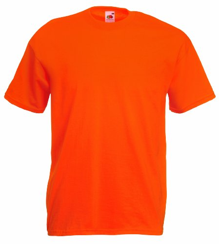 Fruit of the Loom - Camiseta, color naranja, talla L