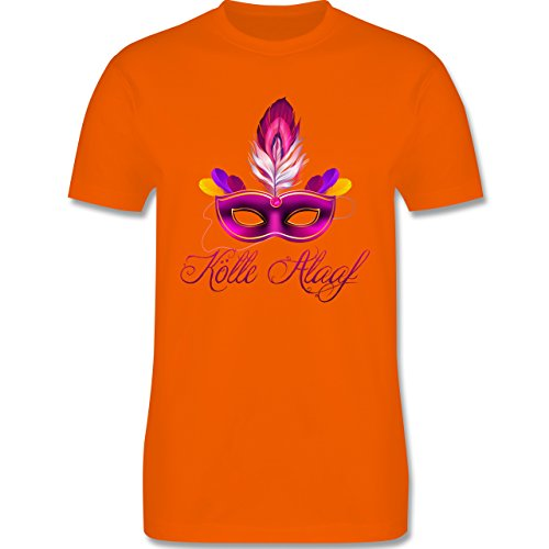 Karneval & Fasching - Maske Kölle Alaaf - Herren Premium T-Shirt Orange