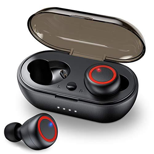 ZYKCEM Wahre Wireless-Earbuds Bluetooth 5.0, in-Ear-Stereo-Funkkopfhörer mit Geräuschunterdrückung Auto Pairing drahtlosen Kopfhörer Bluetooth Headset mit Ladetasche