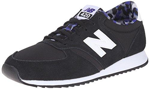 New Balance 487681 50, Baskets Basses Femme Noir (Black/White)