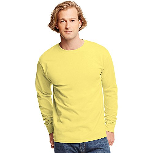 Hanes Tagless Long-Sleeve T-Shirt Yellow