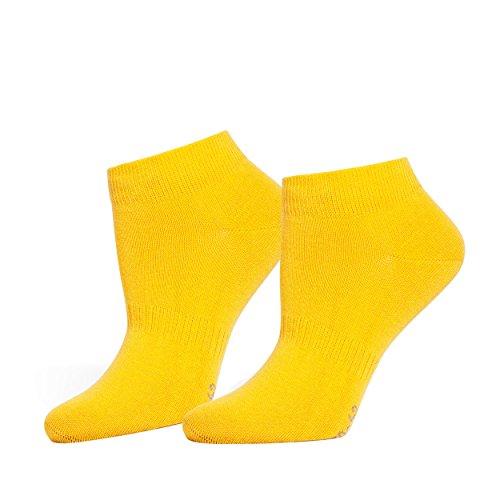 SaferSox Sneaker Socken Gelb, 39-42