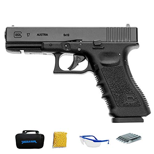 Umarex Glock 17 | Pistola de Airsoft Calibre 6mm (Arma Aire Suave de Bolas de plástico o PVC). Sistema: CO2