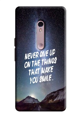 EU4IA Never Give Up Quotes PRINTED MATTE FINISH Back Cover Case For MOTOROLA MOTO X STYLE - D286  available at amazon for Rs.299