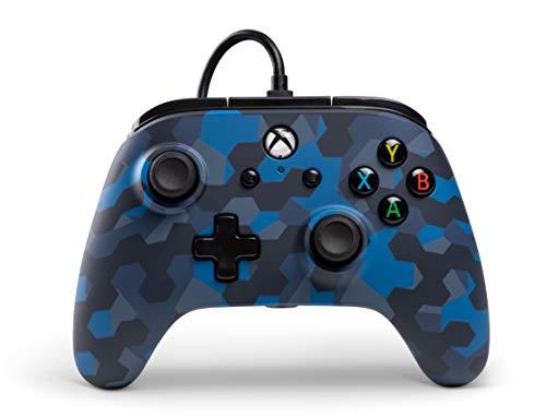 Kabelgebundener Controller Offiziell von Microsoft lizenziert und Kompatibel mit Xbox Onexbox One Sxbox X und Windows 10 - Stealth Blaue Tarnung