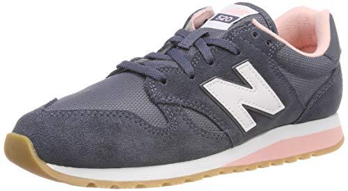 New Balance Damen 520 Sneaker, Blau (Grisaille/Himalayan Pink Ck), 39 EU