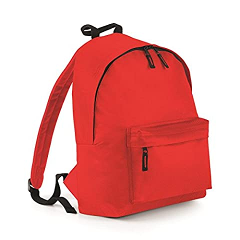 BagBase Fashion Backpack - Size Bright Red