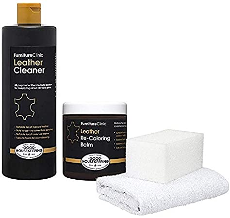 Furniture Clinic Complete Leather Repair Kit (Black) | For
