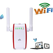 Enrutador inalámbrico WiFi Router Extensor de red WiFi 300Mbps Mini Wireless Extensor de Rango AP Amplificador Repetidor Booster Wireless N Universal EU Enchufe (N300,WPS)