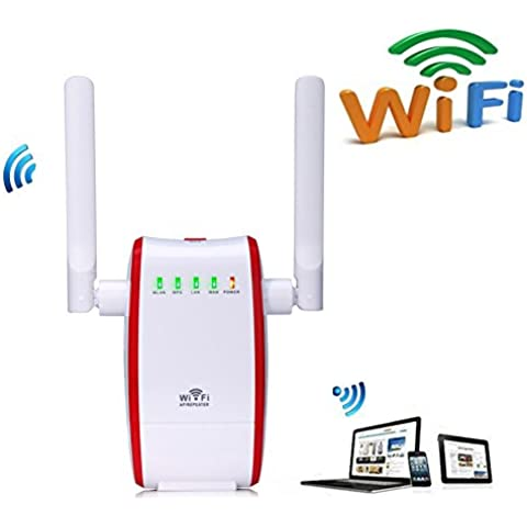 Enrutador inalámbrico WiFi Router Extensor de red WiFi 300Mbps Mini Wireless Extensor de Rango AP Amplificador Repetidor Booster Wireless N Universal EU Enchufe