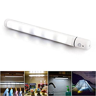 Ouonline Motion Sensor Light Rotating LED Night Light with Magnetic Base for Camping, Hallway, Stairway, Closet, Wardrobe - inexpensive UK light store.
