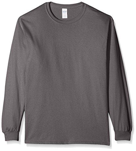 Gildan Herren T-Shirt Ultra Cotton L/Sleeve Tee Grau (Anthrazit)