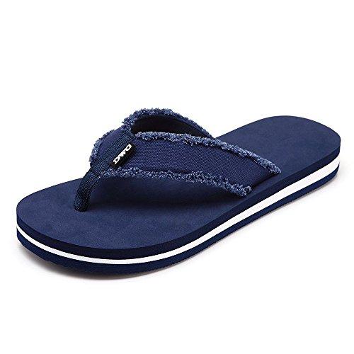 DWG Mens Frayed Flip Flops Klassische Lightweight String Sandale (Klassische Flip-flop)